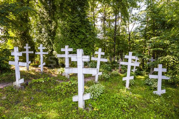 Mezarlık kampus manastır Avrupa mezarlık Hristiyan Stok fotoğraf © phbcz