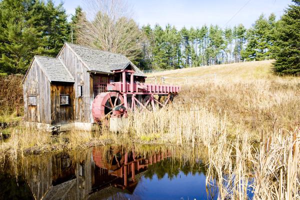 Mill Vermont USA acqua costruzione viaggio Foto d'archivio © phbcz