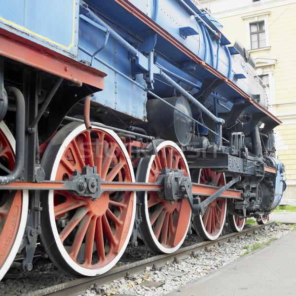 Gare Belgrade Serbie roue moteur Photo stock © phbcz