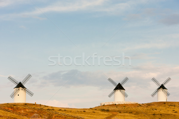 windmills, Alcazar de San Juan, Castile-La Mancha, Spain Stock photo © phbcz