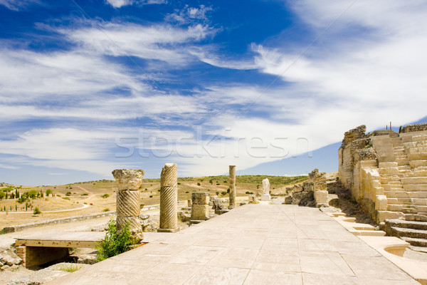 Roman Theatre of Segobriga, Saelices, Castile-La Mancha, Spain Stock photo © phbcz