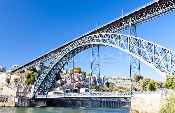 Dom Luis I Bridge, Porto, Portugal Stock photo © phbcz