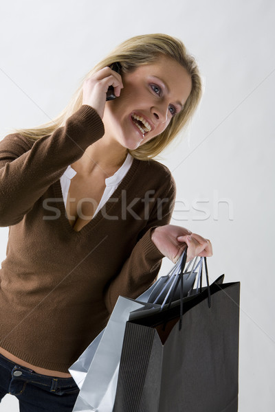 portrait of shopping woman Stock photo © phbcz