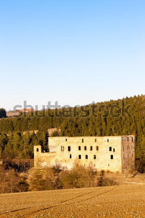church in Ampudia, Castile and Leon, Spain Stock photo © phbcz