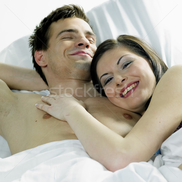 Pár nő szeretet férfi boldog párok Stock fotó © phbcz