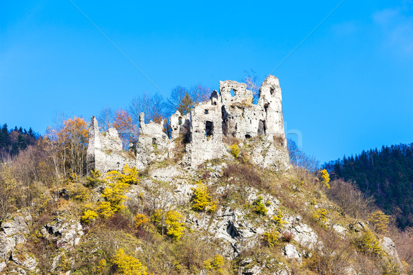 ruins of castle called Stary hrad near Strecno, Slovakia Stock photo © phbcz