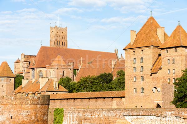 Château Pologne Voyage architecture Europe histoire Photo stock © phbcz
