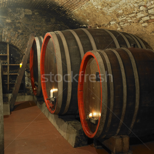 wine cellar, Litomerice, Czech Republic Stock photo © phbcz