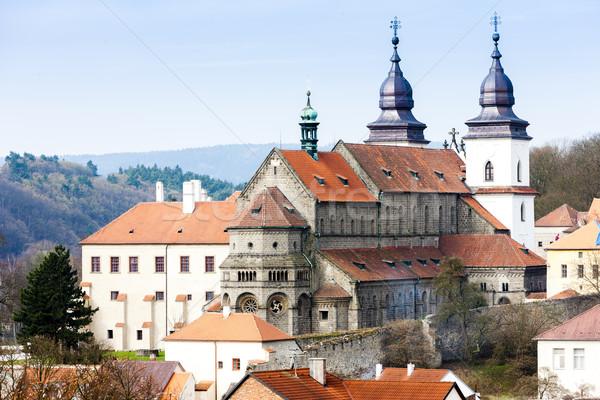 Stock fotó: Bazilika · Csehország · ház · épület · utazás · építészet
