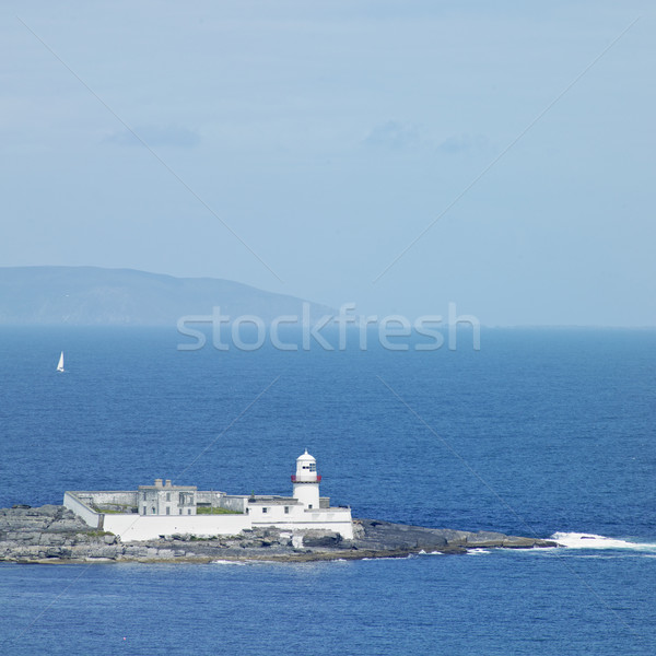lighthouse, Valencia Island, County Kerry, Ireland Stock photo © phbcz