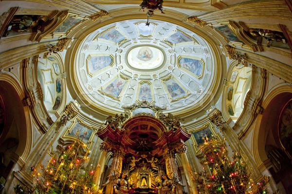 Interieur bedevaart kerk Polen reizen gebouwen Stockfoto © phbcz