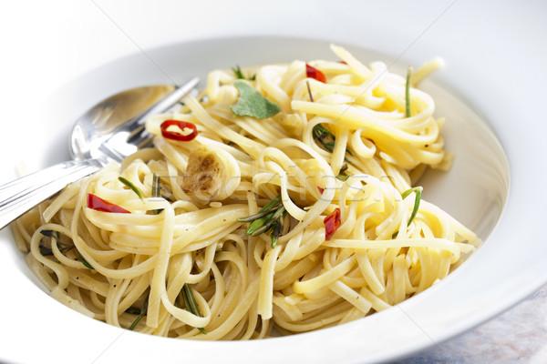 Сток-фото: спагетти · Турция · мяса · мудрец · чили · пластина
