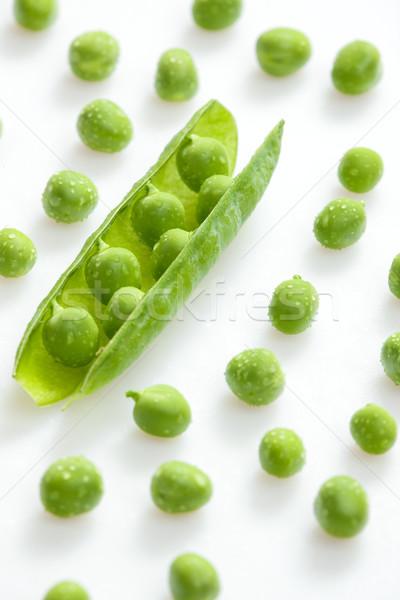 Hüvely zöldborsó egészség belső zöldségek zöldség Stock fotó © phbcz