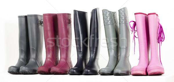 Ancora vita stivali di gomma scarpe nero stile protezione Foto d'archivio © phbcz
