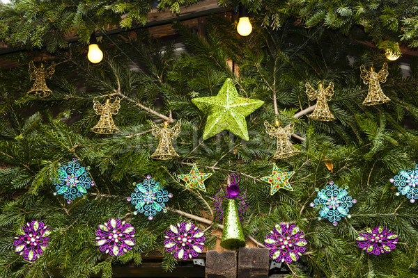 Natal mercado Viena Áustria verde apresentar Foto stock © phbcz