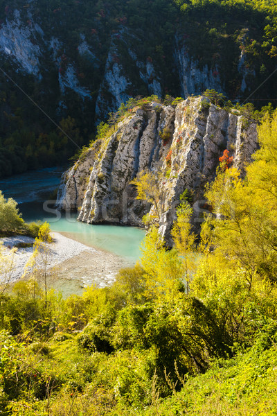 Verdon Gorge in autumn, Provence, France Stock photo © phbcz