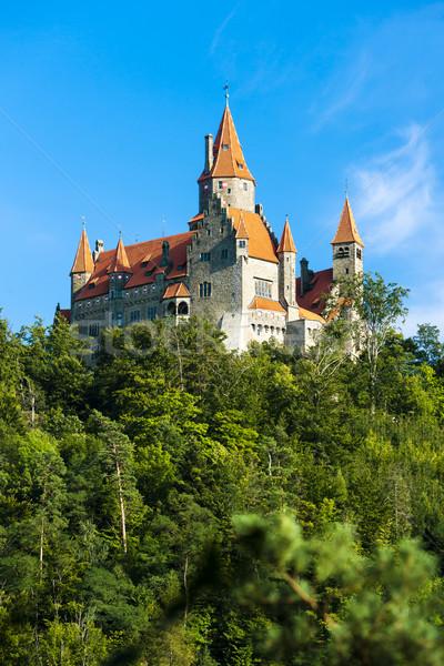 Kastély Csehország utazás építészet Európa történelem Stock fotó © phbcz