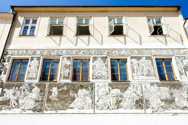 detail of renaissance house, Znojmo, Czech Republic Stock photo © phbcz