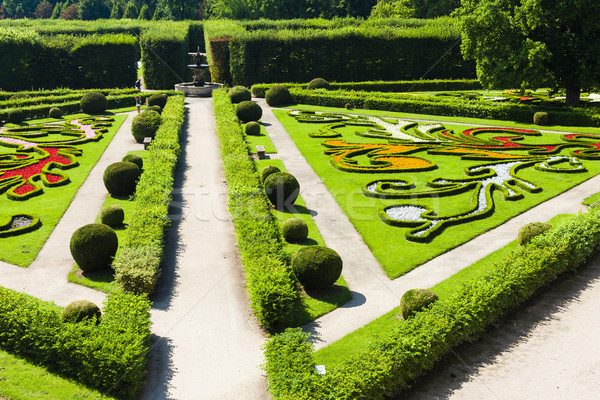 Flower garden of Kromeriz Palace, Czech Republic Stock photo © phbcz