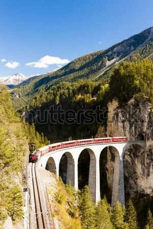 スイス 自然 橋 山 アーキテクチャ ヨーロッパ ストックフォト © phbcz