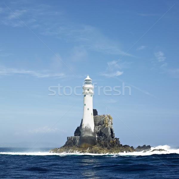 Faro rock corcho Irlanda mar océano Foto stock © phbcz