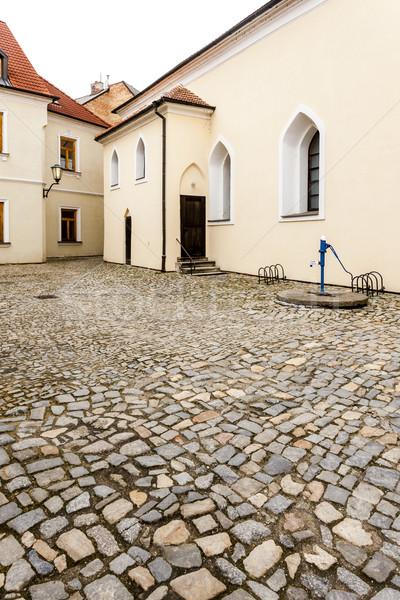 Synagoge kwartaal Tsjechische Republiek gebouw kerk Stockfoto © phbcz