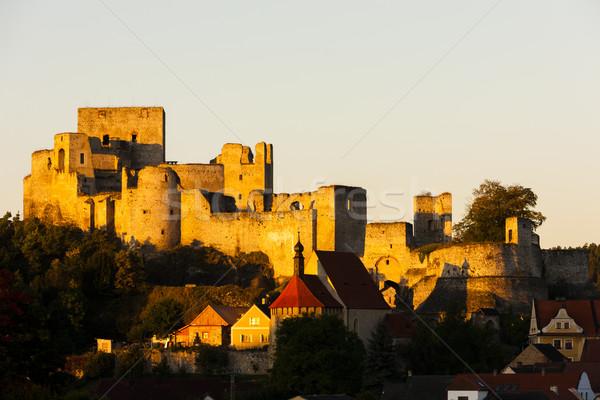 Ruinas castillo República Checa casa viaje arquitectura Foto stock © phbcz