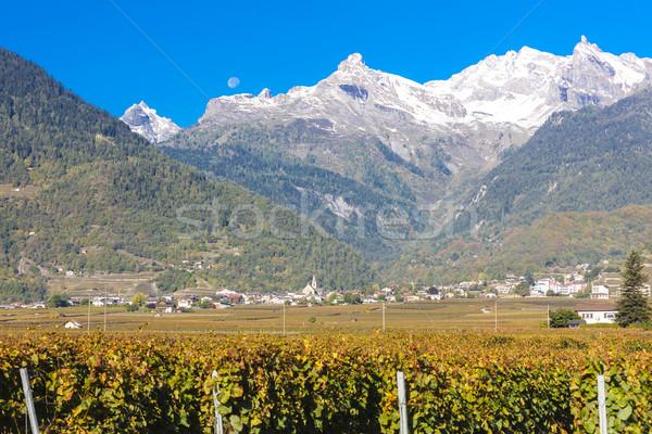 Bölge İsviçre doğa seyahat düşmek tarım Stok fotoğraf © phbcz