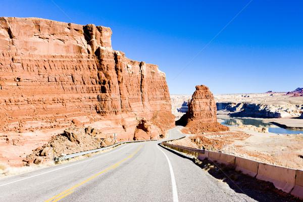 Drogowego kanion Utah USA krajobraz Zdjęcia stock © phbcz