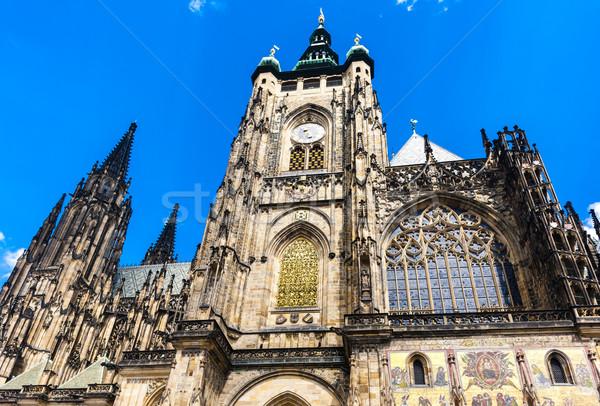 Katedrális Prága kastély Csehország épület építészet Stock fotó © phbcz