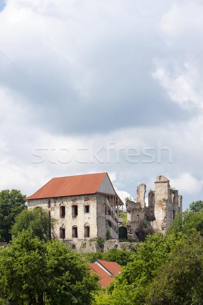 Ruinas castillo República Checa edificio arquitectura historia Foto stock © phbcz