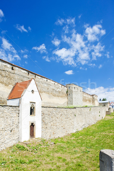 Ciudad fortificación Eslovaquia arquitectura historia aire libre Foto stock © phbcz