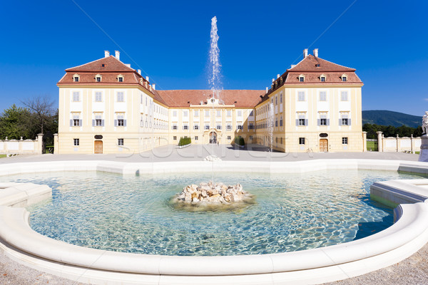 Palace Hof with a fountain, Lower Austria, Austria Stock photo © phbcz