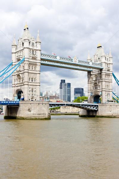 Tower Bridge London Großbritannien Gebäude Stadt Reise Stock foto © phbcz