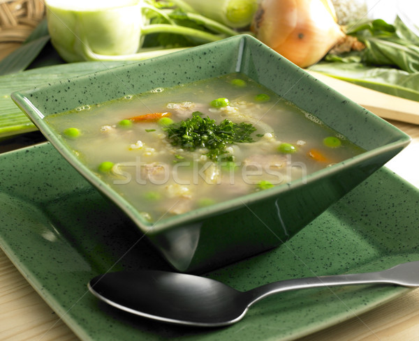 Scottish barley soup with lamb meat Stock photo © phbcz