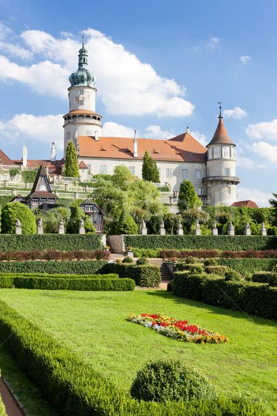 Castelo jardim República Checa edifício arquitetura planta Foto stock © phbcz