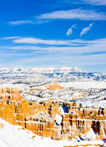Desfiladeiro parque inverno Utah EUA paisagem Foto stock © phbcz