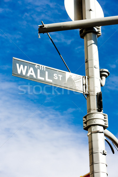 Wall Street teken New York City USA stad stedelijke Stockfoto © phbcz