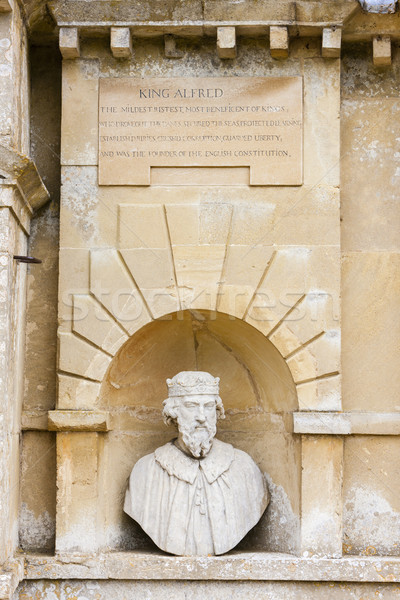 bust of King Alfred, Stowe, Buckinghamshire, England Stock photo © phbcz