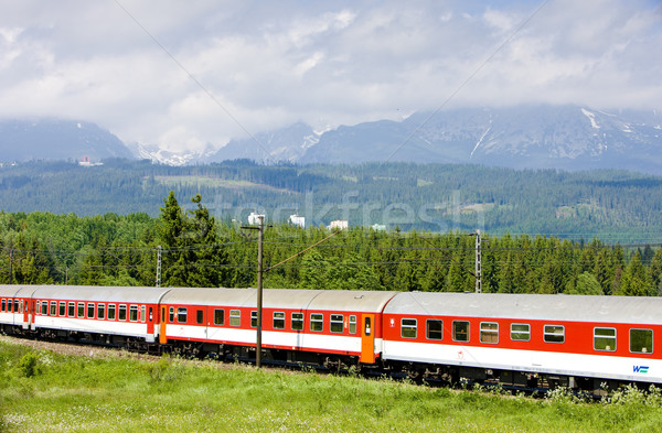 train in Vysoke Tatry, Slovakia Stock photo © phbcz