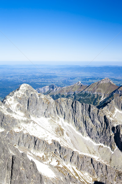 view from Lomnicky Peak, Vysoke Tatry (High Tatras), Slovakia Stock photo © phbcz
