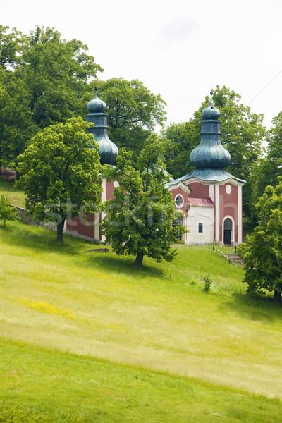 Bedevaart plaats Slowakije gebouw reizen architectuur Stockfoto © phbcz