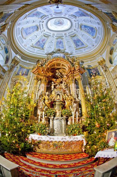 Interior peregrinação igreja Polônia viajar edifícios Foto stock © phbcz