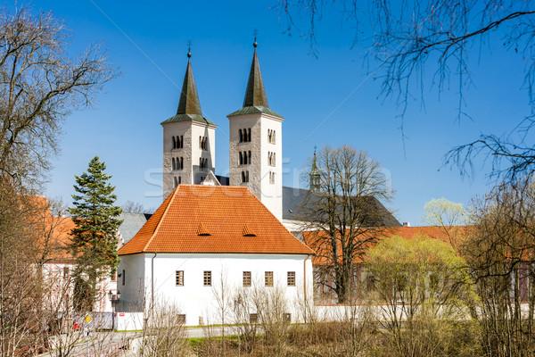 Manastır Çek Cumhuriyeti kilise mimari Gotik tarih Stok fotoğraf © phbcz