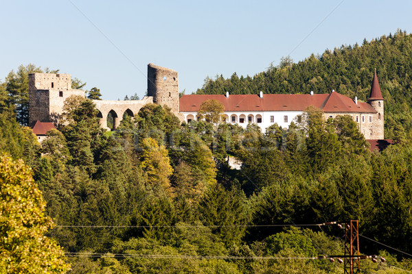 Romok kastély Csehország építészet ősz kint Stock fotó © phbcz