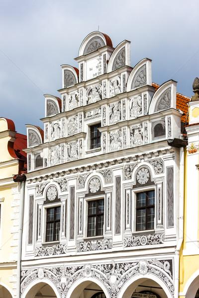 Maison République tchèque bâtiment ville architecture Europe Photo stock © phbcz