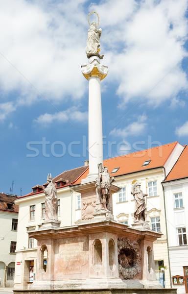 Сток-фото: квадратный · Чешская · республика · здании · архитектура · история · колонки
