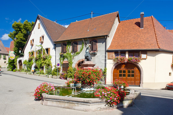 village in Haut Rhin, Alsace, France Stock photo © phbcz
