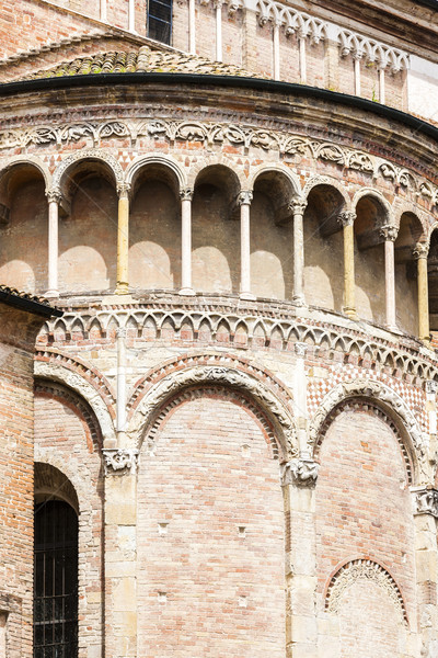 detail of Parma Cathedral, Emilia-Romagna, Italy Stock photo © phbcz