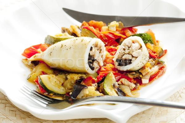 Seppia Turchia carne spezzatino verdura alimentare Foto d'archivio © phbcz